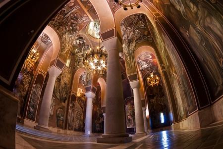 the interiors of the church inside Tsarevets fortress in Veliko Ternovo, Bulgaria