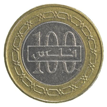 100 Bahraini dinar coin isolated on white background Stock Photo - 20549947