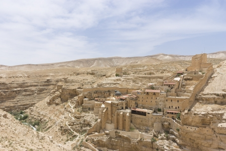 judean desert: the ancient monastery of Mar Sabas in the Israeli Judean desert is about 1500 years old