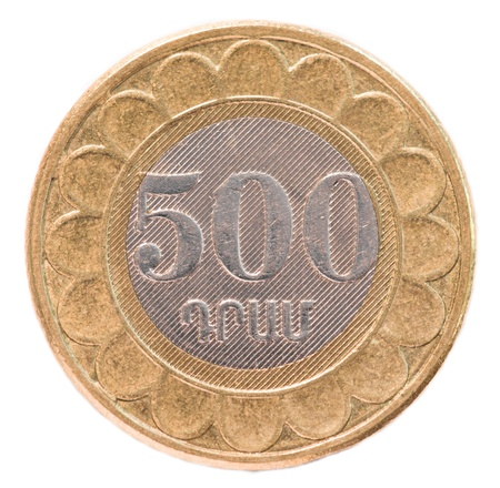 500 Armenian dollars coin  photo