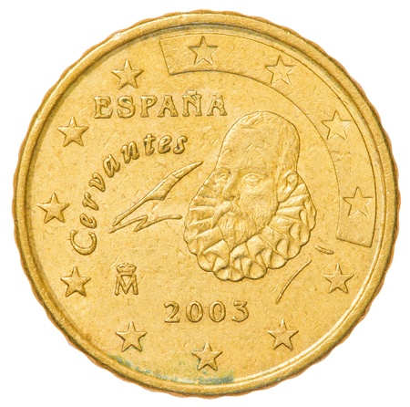 10 euro cents coin - spain Stock Photo