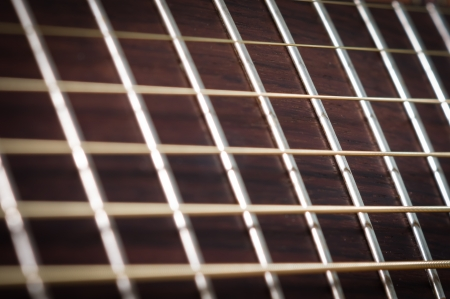 abstract guitar music - rosewood fret board photo
