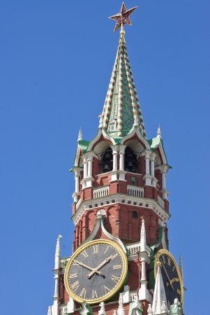 kremlin clock tower in Moscow, Russia photo