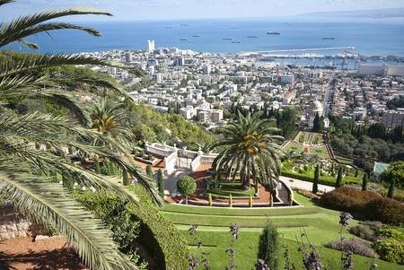 bahaullah: the Bahai gardens in the city of Haifa, israel Stock Photo