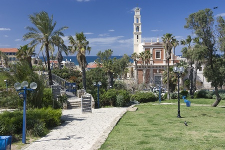 view of st. Peters church at old jaffa photo