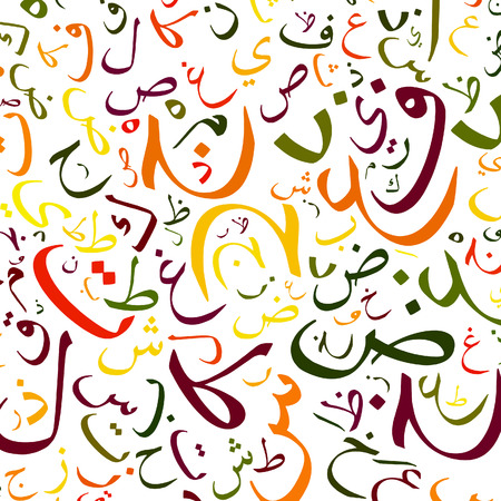 in islamic art: arabic alphabet texture background - high resolution