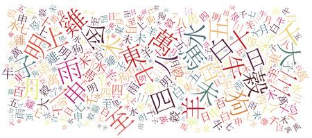 Chino alfabeto textura de fondo - de alta resolución Foto de archivo - 25975123