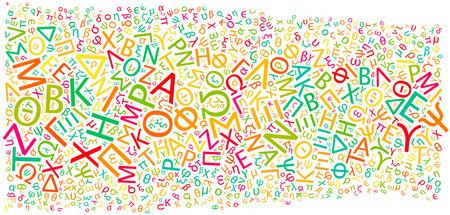 greek alphabet: greek alphabet texture background - high resolution