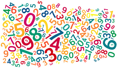 funky background: word cloud background composed out of numbers