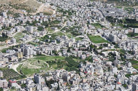 gerezim: aerial view of Nablus, West bank, Israel