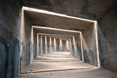 destress: a gloomy concrete tunnel, can be used as a concept regarding depression and destress