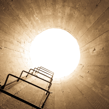 concept - light at the end of the tunnel photo