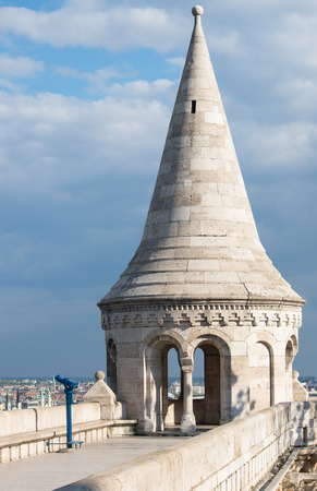 schulek: Fishermans Bastion on castle hill at Budapest, Hundary