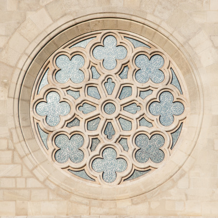 halaszbastya: Saint Matthias Church window in Budapest, hungary Stock Photo