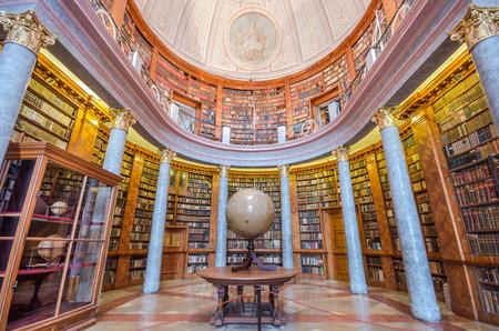 PANNONHALMA / HUNGARY - APRIL 16: Interior of Pannonhalma library on April 16, 2014 in Pannonhalma/Hungary