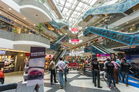 JAIPUR  INDIA - SEPTEMBER 20: interior of the MFG Metropolitan mall on September 20, 2014 in JaipurIndia