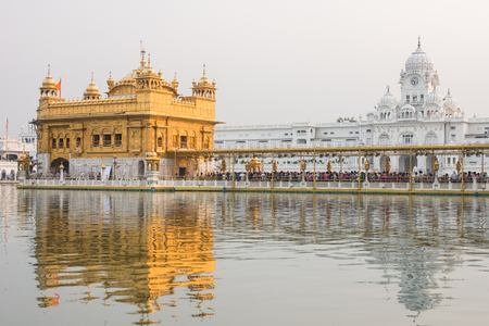 golden temple: the Harimandir Sahib at the Golden temple complex, Amritsar - India