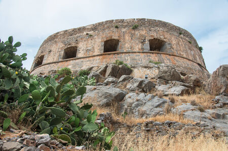 lepra: Antiguo Spinalonga isla fortaleza, Creta Grecia
