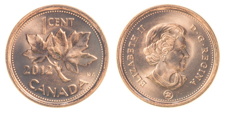 canadian coin: canadian cents coin