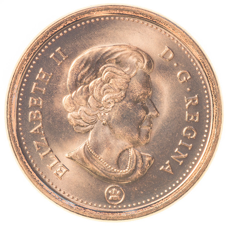 canadian coin: TORONTO, CANADA - FEBRUARY 20, 2015: 1 canadian cents coin