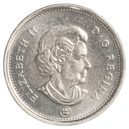canadian coin: TORONTO, CANADA - FEBRUARY 20, 2015: 5 canadian cents coin