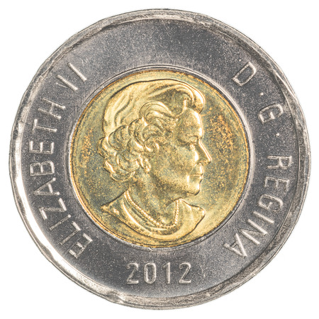 canadian coin: TORONTO, CANADA - FEBRUARY 20, 2015: 2 canadian dollar coin Editorial