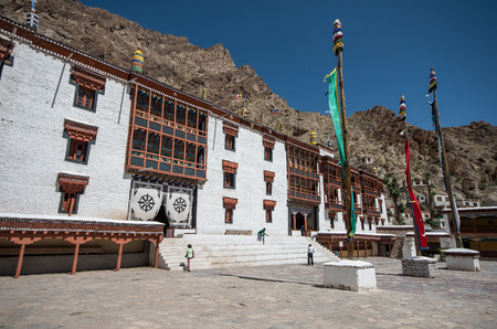 gompa: view if Tibetan Hemis monastery - Ladakh, Jammu and Kashmir ,India Stock Photo