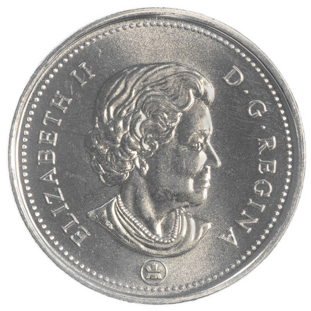 canadian coin: 50 canadian cents coin