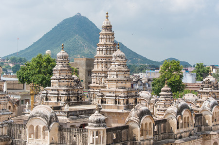 templo: Templo Sri Raghunath Swamy en Pushkar, Rajastán - India Foto de archivo