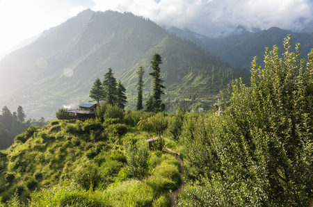 pradesh: Parvati valley scenery - Himachal pradesh, India