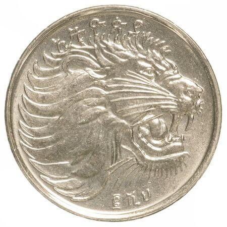 ethiopian: ethiopian santim coin isolated on white background