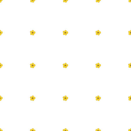 Seamless background of drawing buttercup. Endless pattern with flower for your design.