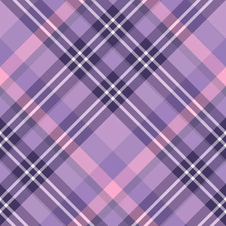 Seamless pattern in great violet, pink and white colors for plaid, fabric, textile, clothes, tablecloth and other things. Vector image. 2