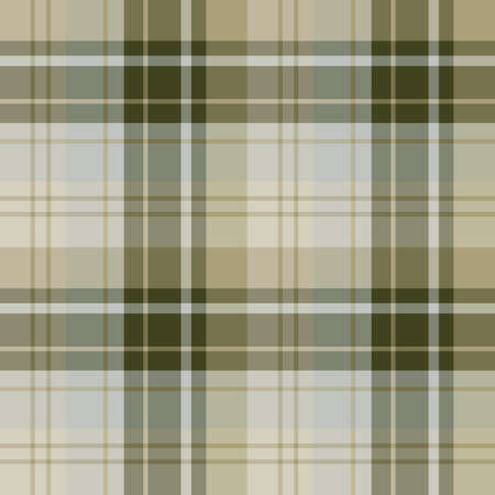 Seamless pattern in fascinating swamp green, gray and beige colors for plaid, fabric, textile, clothes, tablecloth and other things. Vector image.