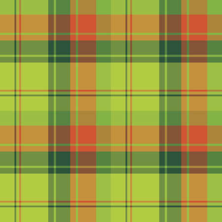 Seamless pattern in fascinating positive christmas red and green colors for plaid, fabric, textile, clothes, tablecloth and other things. Vector image.