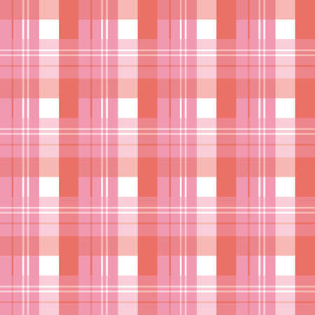 Seamless pattern in fascinating pink, red and white colors for plaid, fabric, textile, clothes, tablecloth and other things. Vector image.