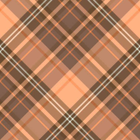 Seamless pattern in fascinating cute brown and orange colors for plaid, fabric, textile, clothes, tablecloth and other things. Vector image. 2