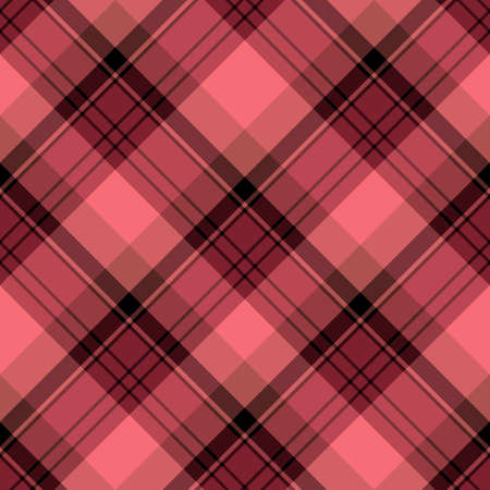 Seamless pattern in fascinating cozy berry red and black for plaid, fabric, textile, clothes, tablecloth and other things. Vector image. 2