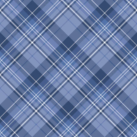 Seamless pattern in fascinating discreet dark blue and white colors for plaid, fabric, textile, clothes, tablecloth and other things. Vector image. 2