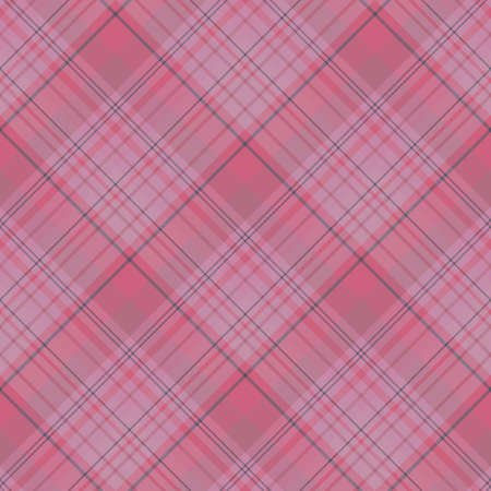 Seamless pattern in interesting discreet pink and dark gray colors for plaid, fabric, textile, clothes, tablecloth and other things. Vector image.