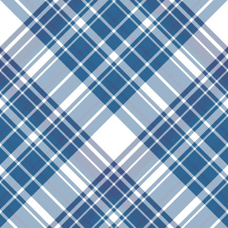 Seamless pattern in interesting dark blue and white colors for plaid, fabric, textile, clothes, tablecloth and other things. Vector image.