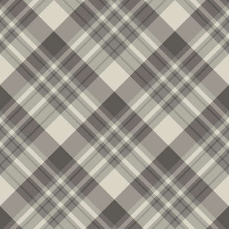 Seamless pattern in interesting cozy light and dark gray colors for plaid, fabric, textile, clothes, tablecloth and other things. Vector image.