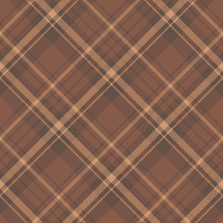 Seamless pattern in interesting cozy brown colors for plaid, fabric, textile, clothes, tablecloth and other things. Vector image.