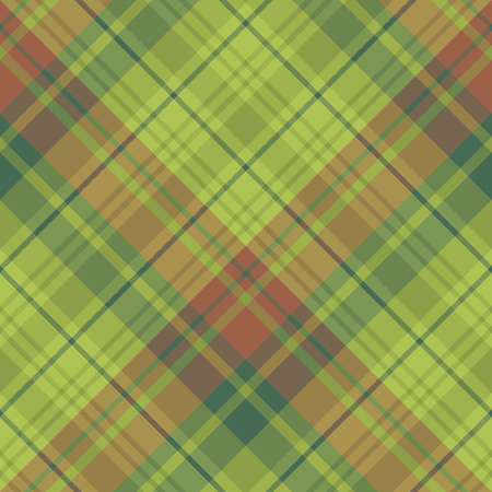 Seamless pattern in interesting cozy green and brown colors for plaid, fabric, textile, clothes, tablecloth and other things. Vector image.
