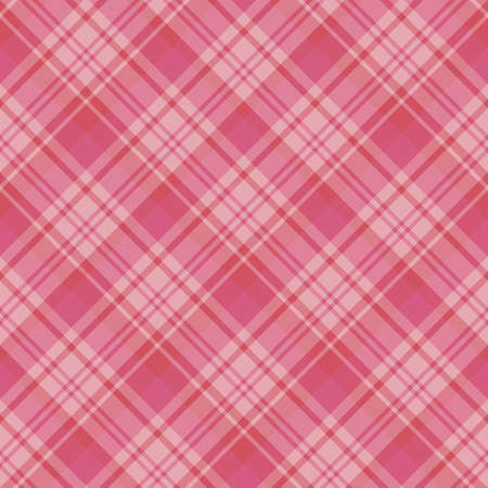 Seamless pattern in interesting festive pink and red colors for plaid, fabric, textile, clothes, tablecloth and other things. Vector image.
