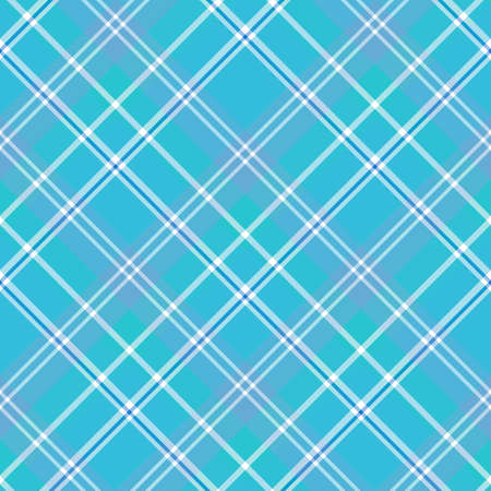 Seamless pattern in interesting cute blue and white colors for plaid, fabric, textile, clothes, tablecloth and other things. Vector image.