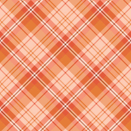 Seamless pattern in interesting cute light and dark orange colors for plaid, fabric, textile, clothes, tablecloth and other things. Vector image.