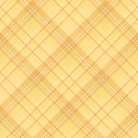 Seamless pattern in interesting cozy yellow and light orange colors for plaid, fabric, textile, clothes, tablecloth and other things. Vector image.