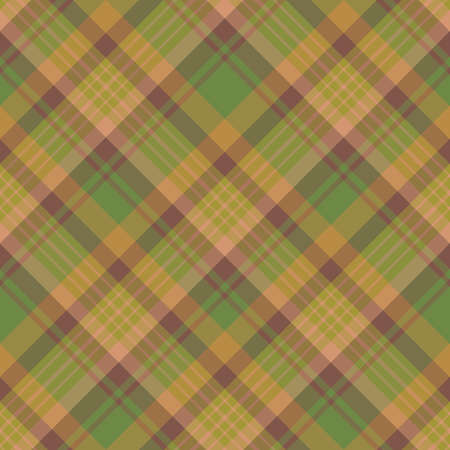 Seamless pattern in interesting brown, beige and green moss colors for plaid, fabric, textile, clothes, tablecloth and other things. Vector image. Illusztráció