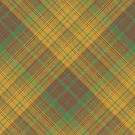 Seamless pattern in interesting brown, green and swamp beige colors for plaid, fabric, textile, clothes, tablecloth and other things. Vector image. Illusztráció